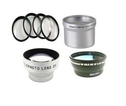 Wide Lens + Tele Lens + Close Up +Tube for Olympus C-700 C-720 C-725 C-7... - $62.93