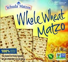 Yehuda, Whole Wheat Matzo, 10.5oz 5 Pack Great Value! - $18.73