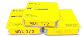 LOT OF 15 NEW COOPER BUSSMANN MDL-1/2 FUSES .5A, 250VAC TIME DELAY
