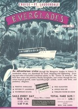 1950s Everglades Boat Tours Travel Brochure Ft. Lauderdale Florida Gold ... - $20.00