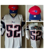 New England Patriots Ted Johnson Jersey # 52 Authentic NFL Adidas + Star... - $144.14