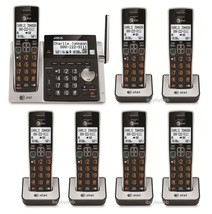 AT&T CL83213 7 Big Button Cordless Phones Answering Machine & Talking Caller ID - $218.70