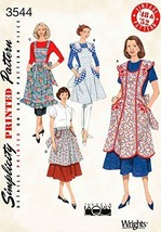 Simplicity Ladies Easy Sewing Pattern 3544 Vintage Style 1950s Aprons - $13.72