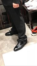 Handmade leather derby lace up dress shoes custom made oxford shoes for man  - $179.90