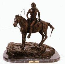 Artistic Solutions Vigil Statue American 100% Bronze Handmade Sculpture ... - $962.85