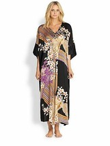 NWT New Josie Natori S Silk Floral Chinois Caftan Womens Night Gown Kaft... - $455.00