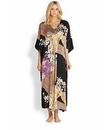 NWT New Josie Natori S Silk Floral Chinois Caftan Womens Night Gown Kaft... - $455.00