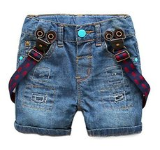 New Style Children's Wild Casual Suspender Trousers Age 2-5