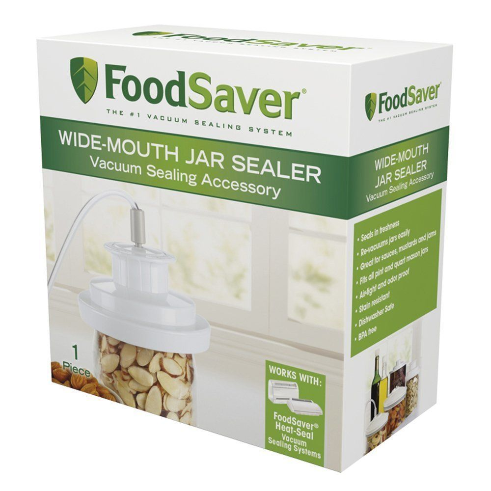FoodSaver Wide-Mouth Jar Sealer T03-0023-01, New