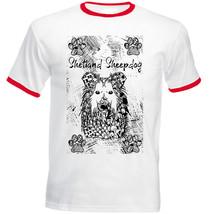 Shetland Sheepdog - New Cotton Red Ringer Tshirt - $22.92