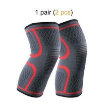 Ship from USA 1 Pair Knee Brace Knee Compression Sleeve Support for Men Women Ru image 6
