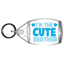 im the cute brother handmade in uk from uk made parts keyring, keyfob