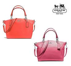 Nwt Coach Small Kelsey Satchel Crossbody Leather Magenta Orange F36675 Free Shp - $150.00
