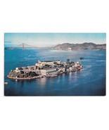 CA Alcatraz Island San Francisco Bay Golden Gate Bridge Vntg Gray LIne P... - $6.69