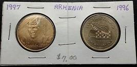 1996 & 1997 Armenia 100 Dram (Charents) Coins - Mint Condition - $5.22