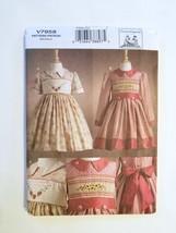 Vogue 7958, Childs Dress & Transfer, Size 2,3,4,5,6,6X - $6.95