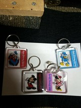 Walt Disney Character Keychain Pick One In Format - $11.99+