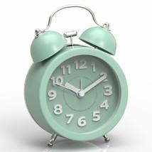 "Nice Alarm Clock 3"" Face Blue Twin Bell Vintage Shabby Chic Farmhouse Desk - $29.95"