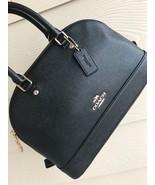 NWT COACH F27591 Leather MINI SIERRA Crossbody SATCHEL HANDBAG Black - $128.69
