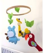 Baby mobile, Safari mobile, New baby gift, nursery mobile, Jungle animal... - $49.00