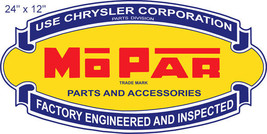Chrysler Mo Par Parts Reproduction Cut Out Gas Station Sign 12x24 - $32.67