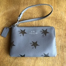 Coach Corner Zip Wristlet Star Canyon Silver Holiday Special Edition F64645 - $29.70