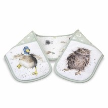 FOX OWL PHEASANT BADGER DUCK HARE ANIMALS DOUBLE OVEN GLOVE 18 X 88CM – ... - $15.37