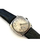 Vintage Very Rare Solid Silver Military Mechanical Men`s Watch 30`s Years - $128.33