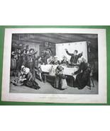 """BRITTANY France Wedding Feast Reception  -  Victorian Era Print 16"""" x 22"""" - $20.21"""