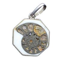Vintage Sterling Silver Fossil Ammonites Jurassic Period Imitation Pendant - €34,30 EUR
