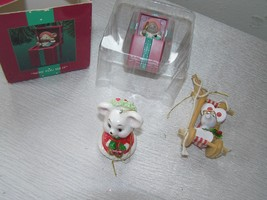 Lot of 3 Painted Wood & Porcelain Enesco Plastic Merry Miss Merry Pop-Up... - $12.19