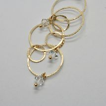 EARRINGS HANGING 925 SILVER LAMINA GOLD CIRCLES BY MARY JANE IELPO MADE IN ITALY image 6
