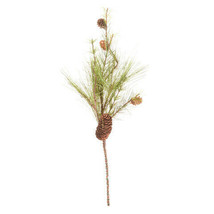 Darice Christmas Pine Spray with 4 Pinecones: 23 inches w - $7.99