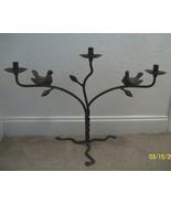Jan Barboglio Paloma Dove Birds On Branches Taper Candelabra Candle Holder - $750.00