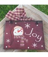 5780J - Joy Snowman Sign  - $2.50