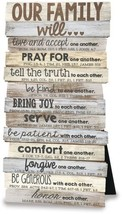 Lighthouse Christian Products Our Family Will Wall/Desktop Plaque, 5 x 10' - $25.61