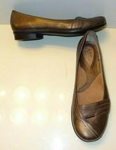CLARKS Artisan 73878 Bronze Gold Stitched Metallic Ballet Flats Women's ... - $27.99
