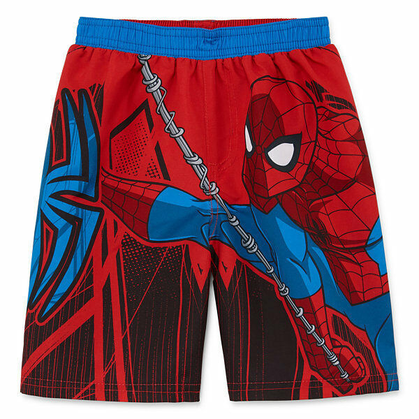 SPIDER-MAN UPF-50+ Bathing Suit Swim Trunks w/ Optional Sunglasses Size 2T or 4T - $15.87 - $15.99