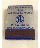 Vintage Feature Matchbook Oil Well Liners Tool Exchange Full Unstruck Ca... - $9.97