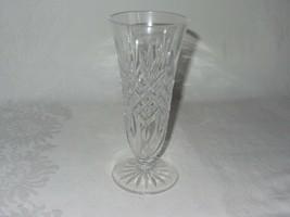 Waterford Cut Crystal Clear Vase Ashbourne Pedestal Footed Flared Vintag... - $34.64
