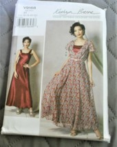 Pattern Vogue Designer Dress Kathryn Brenne V9168 (140-22) Uncut Factory... - $19.78