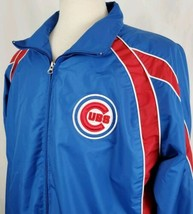 Chicago Cubs Jacket MLB Genuine Merchandise Large Zip Front Lined Embroi... - $24.99