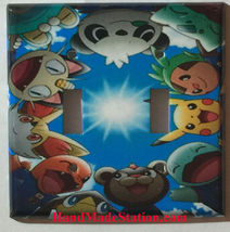 Pokemon Pikachu Friends Light Switch power Outlet Wall Cover Plate Home Decor image 5