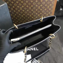 100% AUTHENTIC CHANEL CAVIAR GST GRAND SHOPPING TOTE BAG BLACK GHW image 7