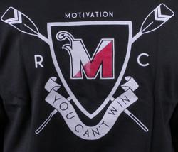 Motivation Ann Arbor Noir Hommes University Aviron Club T-Shirt USA Fabriqué Nwt image 2