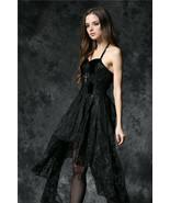 Dark In Love Dead Souls Croix Gothique Élégant Victorien Noir Robe en De... - $52.42