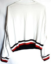 Tommy Hilfiger R26S173  Logo Long Sleeve Cropped White Pullover Sweatshirt S image 2