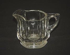 "Old Vintage Heavy Clear Glass 3-1/4"" Milk Creamer Starburst Bottom MCM G... - $14.84"