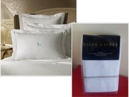 $130.00 Lauren Ralph Lauren Palmer King Size Sham 464 TC, Pale Flannel - $46.78