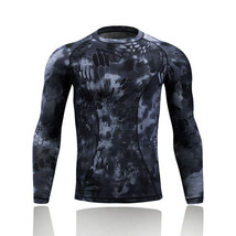 Camouflage Tactical Quick Dry Long Sleeve Shirt Sports Racing Gym T-Shirts - $14.97